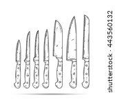 knife set  | Shutterstock .eps vector #443560132