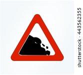 warning rock fall symbol