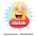 3d illustration laughing... | Shutterstock . vector #443564242