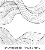 abstract vector black and white ... | Shutterstock .eps vector #443567842