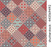seamless pattern. vintage... | Shutterstock . vector #443569492