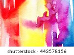 macro wash watercolor... | Shutterstock . vector #443578156