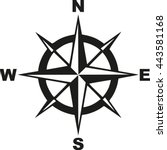compass with north south east... | Shutterstock .eps vector #443581168
