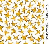 luxury seamless golden stars... | Shutterstock .eps vector #443586916