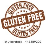 gluten free. stamp   Shutterstock .eps vector #443589202