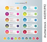 infographic design template and ... | Shutterstock .eps vector #443591992
