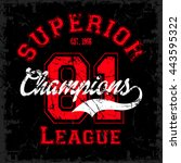 superior champions league... | Shutterstock .eps vector #443595322