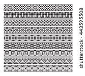 traditional ornamental borders... | Shutterstock .eps vector #443595508