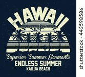hawaii superior summer garments ... | Shutterstock .eps vector #443598586