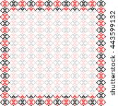 frame  black and red patterns... | Shutterstock .eps vector #443599132