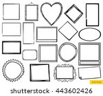 vector set of the hand drawn...   Shutterstock .eps vector #443602426