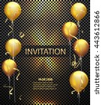invitation card. party... | Shutterstock .eps vector #443612866