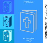 web line icon. bible  holy writ | Shutterstock .eps vector #443613892