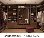 dressing room  interior of a... | Shutterstock . vector #443614672