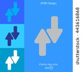 web line icon. arrows up down   Shutterstock .eps vector #443616868