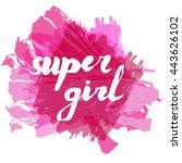 lettering phrase slogan on... | Shutterstock .eps vector #443626102