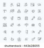 vector line web icons set  ... | Shutterstock .eps vector #443628055