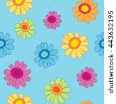 floral seamless pattern. vector ... | Shutterstock .eps vector #443632195