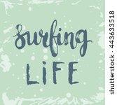 conceptual hand drawn phrase... | Shutterstock .eps vector #443633518