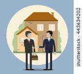 business people shaking hands.... | Shutterstock .eps vector #443634202