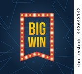 big win sign with lamp... | Shutterstock .eps vector #443643142