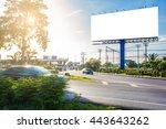 billboard blank for outdoor... | Shutterstock . vector #443643262