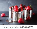 dessert with strawberries and... | Shutterstock . vector #443646175