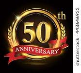 50th golden anniversary logo ... | Shutterstock .eps vector #443646922