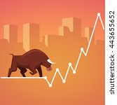 stock exchange market bulls... | Shutterstock .eps vector #443655652