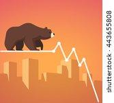 stock exchange market bears...   Shutterstock .eps vector #443655808