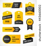 vector stickers  price tag ... | Shutterstock .eps vector #443660002