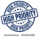 high priority. stamp | Shutterstock .eps vector #443664382