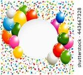 white round banner with... | Shutterstock . vector #443667328