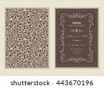 wedding invitation cards ... | Shutterstock .eps vector #443670196