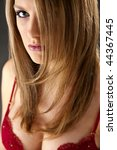 headhshot of a blonde model in... | Shutterstock . vector #44367445