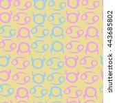 seamless  pattern of zodiac... | Shutterstock .eps vector #443685802