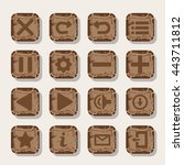 set of rock  stone icons for...