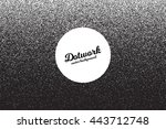 vector retro style dotwork... | Shutterstock .eps vector #443712748