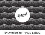vector retro style dotwork... | Shutterstock .eps vector #443712802
