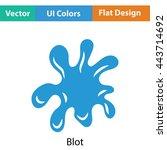 paint blot icon. flat color...