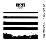 grunge edges set   isolated... | Shutterstock .eps vector #443722642