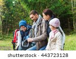 camping  travel  tourism  hike... | Shutterstock . vector #443723128