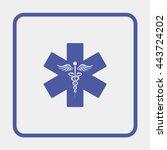 emergency medicine symbol | Shutterstock .eps vector #443724202