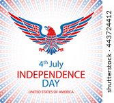 4th july independence day and... | Shutterstock .eps vector #443724412