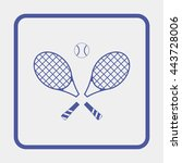 tennis rackets with ball icon. | Shutterstock .eps vector #443728006