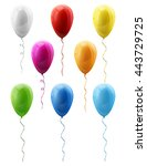 set of colorful vector balloons ... | Shutterstock .eps vector #443729725