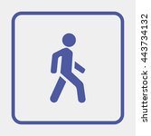 man walk icon. | Shutterstock .eps vector #443734132