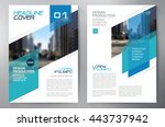business brochure flyer design... | Shutterstock .eps vector #443737942