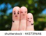 finger art of displeased family....   Shutterstock . vector #443739646