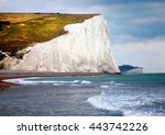 the famous white cliffs of... | Shutterstock . vector #443742226